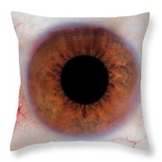 Human Eye Throw Pillow