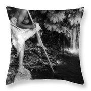Hupa Fisherman, C1923 Throw Pillow