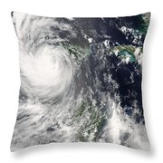 Hurricane Dean Throw Pillow