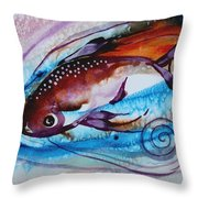 Hurricane Fish 28 Throw Pillow