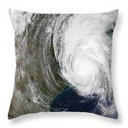 Hurricane Lili Throw Pillow