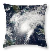 Hurricane Paloma Throw Pillow