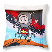 I Want To Go Into Space Man Throw Pillow