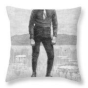Ice Skater, 1880 Throw Pillow