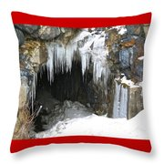 Icicle Falling Throw Pillow