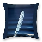 Icicle In Reverse Throw Pillow