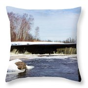 Icy Cold Throw Pillow