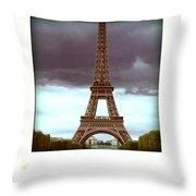 Illustration Of Eiffel Tower Throw Pillow