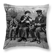 Immigrants: Castle Garden Throw Pillow