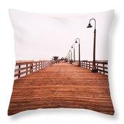 Imperial Beach Pier Throw Pillow
