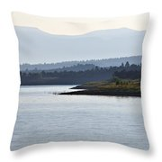 In The Mist Of Morning Throw Pillow