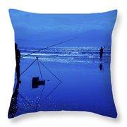Inch Beach, Dingle Peninsula, County Throw Pillow