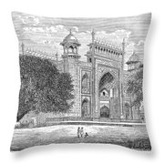 India: Taj Mahal Throw Pillow