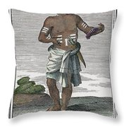 Indian Percussive Rattle Throw Pillow