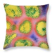 Influenza Tem Throw Pillow by Omikron
