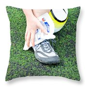 Injured Ankle Throw Pillow