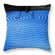 Intersecting Ripples Throw Pillow