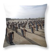 Iraqi Police Cadets Being Trained Throw Pillow