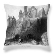 Ireland: Rock Of Cashel Throw Pillow