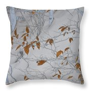 Ironwood In The Snow Throw Pillow