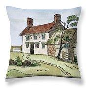 Isaac Newton Birthplace Throw Pillow