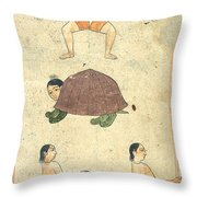 Islamic Mythical Creatures, 17th Century Throw Pillow