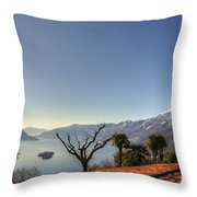Islands On An Alpine Lake Throw Pillow