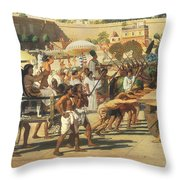 Israel In Egypt Throw Pillow by Sir Edward John Poynter