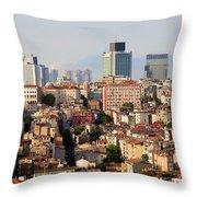 Istanbul Cityscape Throw Pillow