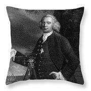 James Brindley (1716-1772) Throw Pillow