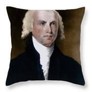 James Madison, 4th American President Throw Pillow by Photo Researchers