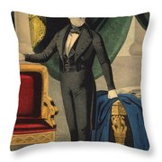James Polk, 11th American President Throw Pillow by Photo Researchers