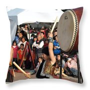 Japanese Drummers Perform In Kaohsiung Taiwan Throw Pillow