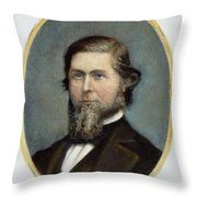Jay Cooke (1821-1905) Throw Pillow
