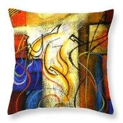 Jazz-funk Throw Pillow