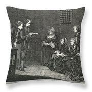 Jean Calas (1698-1762) Throw Pillow