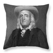 Jeremy Bentham (1748-1832) Throw Pillow