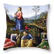 Jesus: Agony In The Garden Throw Pillow