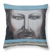 Jesus On The Street Throw Pillow