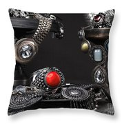 Jewellery Still Life Throw Pillow