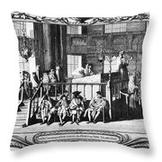 Jewish Life, 18th Century Throw Pillow by Granger