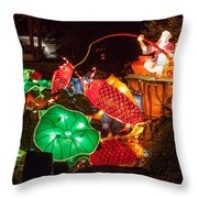 Jiang Tai Gong Fishing Throw Pillow