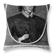 John Donne (1573-1631) Throw Pillow