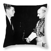 John F. Kennedy Throw Pillow