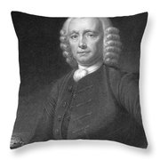 John Harrison, English Inventor Throw Pillow