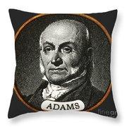 John Quincy Adams, 6th American Throw Pillow