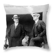 Johnson & Ruth, 1922 Throw Pillow