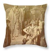 Judgment Of Solomon Throw Pillow