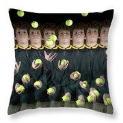 Juggler Throw Pillow by Ted Kinsman