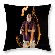 Juggling Fire Throw Pillow